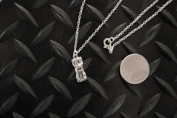 Antique Truck Necklace with quarter for scale