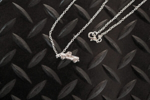 Antique Truck Necklace side view