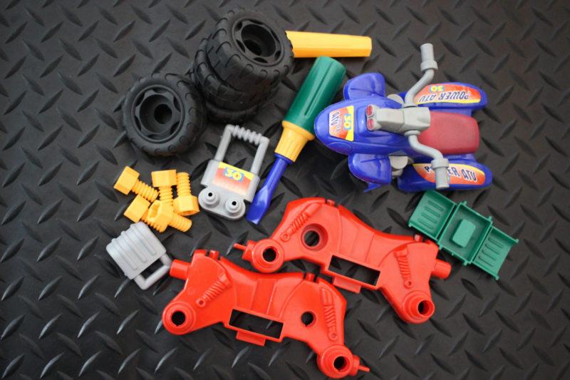 Take Apart ATV Repair Toy - Parts with Screwdriver
