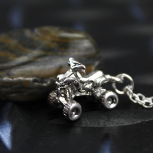 Silver Four Wheeler ATV Necklace