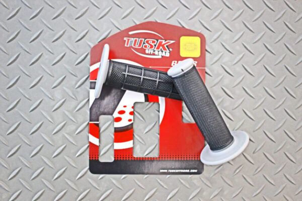 Tusk Dual Compound MX Grips - Half-Waffle Motorcycle Hand Grips
