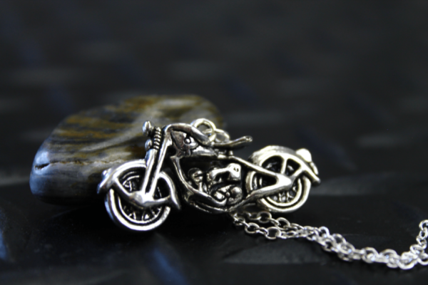 Silver Motorcycle Necklace