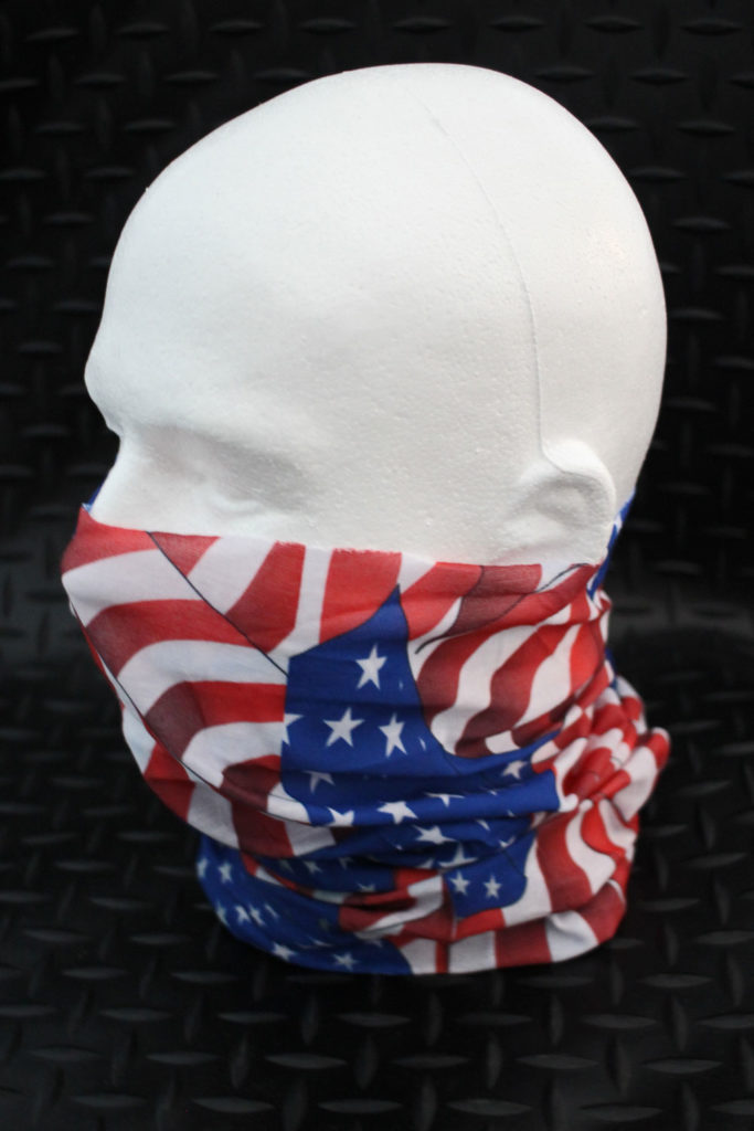 Zan Motley Tube Motorcycle Riding Dust Mask in American Flag Print