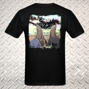 """Ride Fast Live Slow"" Motorcycle Shirt"