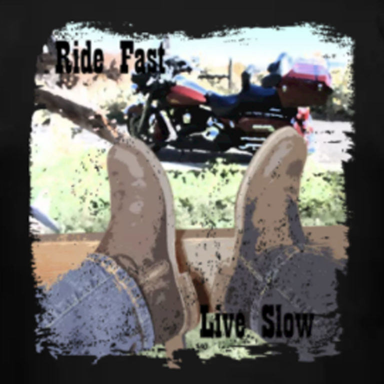 """""""Ride Fast Live Slow"""" Motorcycle Shirt"""