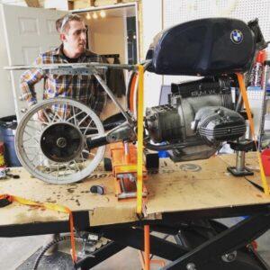 1984 BMW R80RT airhead cafe racer vintage motorcycle repair rebuild at Mancos Motorsports Dolores Colorado