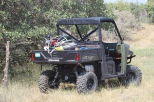 UTV Customization for heavy-duty hauling and off-road use. New shocks installed by Mancos Motorsports, LLC.