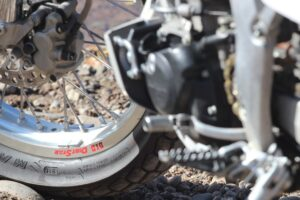 Street Tracker wheel upgrade after a dirt bike overhaul by Mancos Motorsports, LLC Dolores, CO