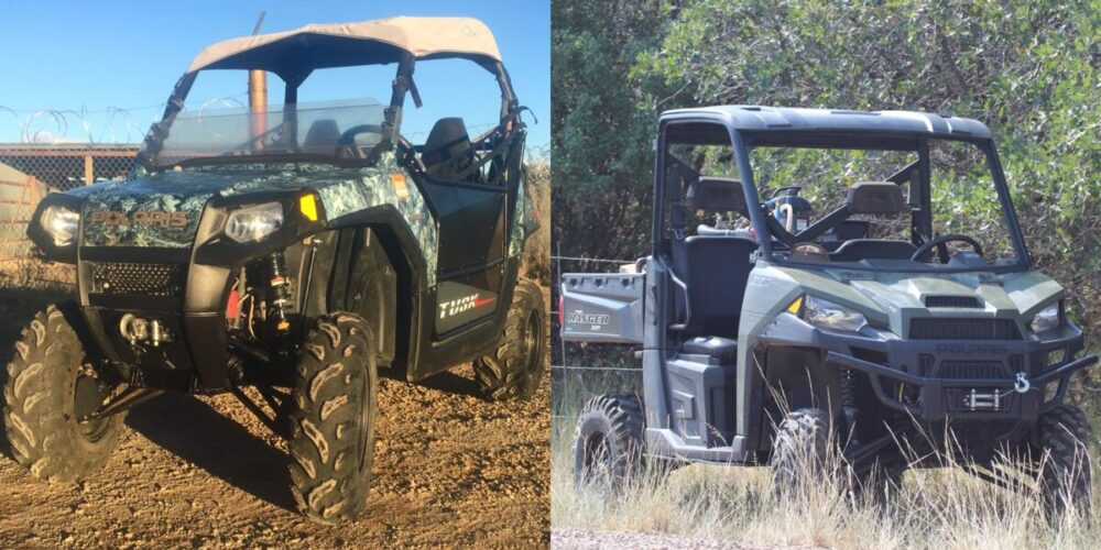 UTV Customization for ranch and farm use. New shocks installed by Mancos Motorsports, LLC.
